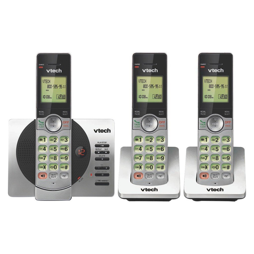 cordless phone 3 handsets answering machine